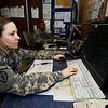 U.S. Army Spc. Vanessa Chester uses air traffic navigation integration control system radar to control aircraft arrivals and departures at Sahra Air Base on Contingency Operating Base Speicher in Tikrit, Iraq, March 12, 2010. Chester is assigned to Fox Company, 3rd General Support Aviation Battalion, 25th Combat Aviation Brigade. The unit is responsible for the operation of the control tower and radar approach facilities at the airfield. (U.S. Navy photo by Chief Petty Officer Michael D. Heckman/Released)