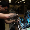 EIELSON AIR FORCE BASE, Alaska -- Airman First Class Robert Wulff, Electronic Warfare Systems Apprentice, 354th Maintenance Squadron, 354th Fighter Wing, Eielson Air Force Base, Alaska, troubleshoots a high voltage power supply on an ANALQ1 84 ECM (Electronic Counter Measures) Pod here on 15 November.<br /> U.S. Air Force Photo by Staff Sgt Joshua Strang<br /> (Released)