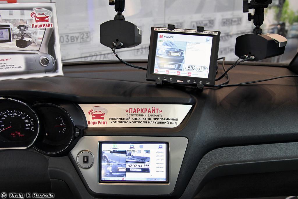Аппаратно-программный комплекс ПаркРайт. Комплекс применяется для фиксации нарушений правил стоянки и остановки, проезда пешеходного перехода, полосы маршрутного транспорта, полосы встречного движения и других видов нарушений. (ParkRight ANPR system to register violations of Traffic Code)