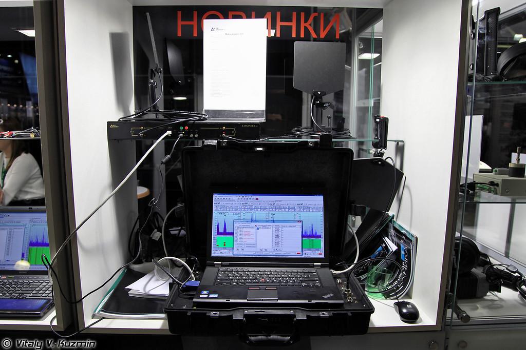 Комплекс радиомониторинга и анализа сигналов Кассандра-СО. Обеспечивает постоянный, периодический контроль радиообстановки, выявление и анализ несанкционированных радиоизлучений, а также проведение спецобследований (Kassandra-SO radio monitoring and analysis of signals system)