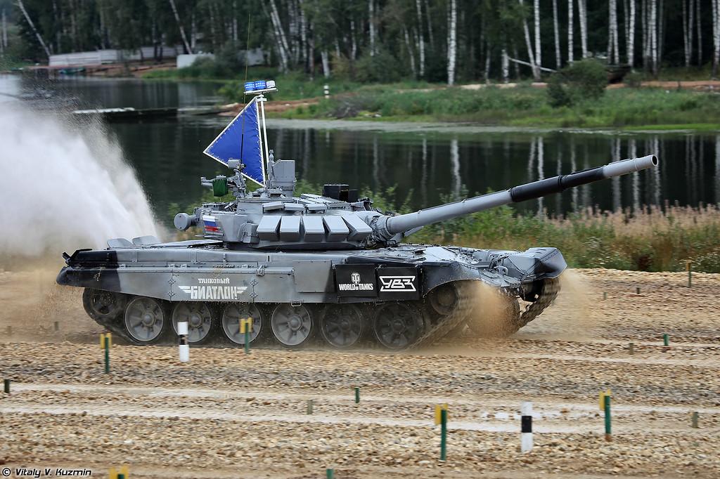 Т-72Б3М/Б4 российской команды (T-72B3M/B4 of Russian team)