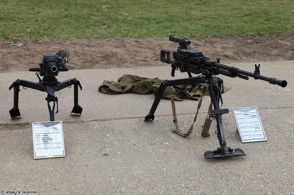 Гранатомет АГС-17 и пулемет НСВС-12,7 (AGS-17 grenade launcher and NCVS-12,7 machine gun)