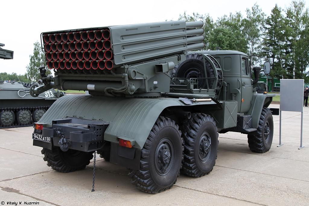 Боевая машина 2Б17-1 из состава РСЗО 9К51М Торнадо-Г (Combat vehicle 2B17-1 from 9K51M Tornado-G MLRS)