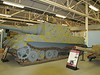 A WW2 German Army Jagdtiger (hunting tiger) tank destroyer with a 128mm main gun
