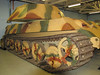 A King Tiger of the WW2 Germany Army, with 'Porsche' turret