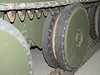 The Christie suspension and road wheels of an A13 Cruiser tank Mark 3