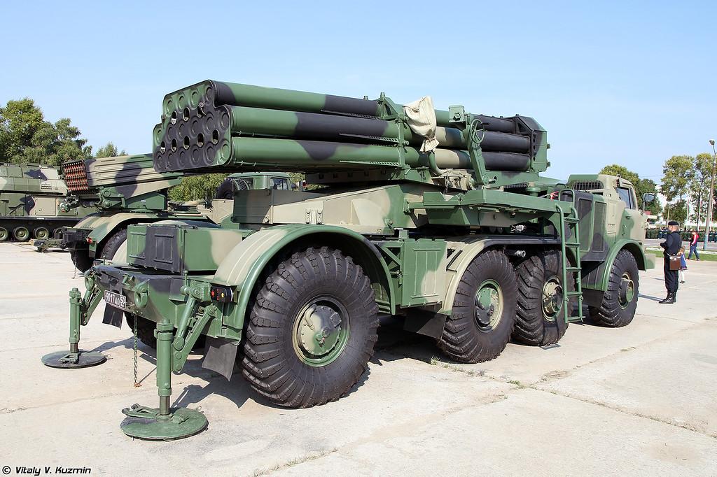 Боевая машина 9П140 РСЗО 9К57 Ураган (9P140 combat vehicle 9K57 Uragan MLRS)