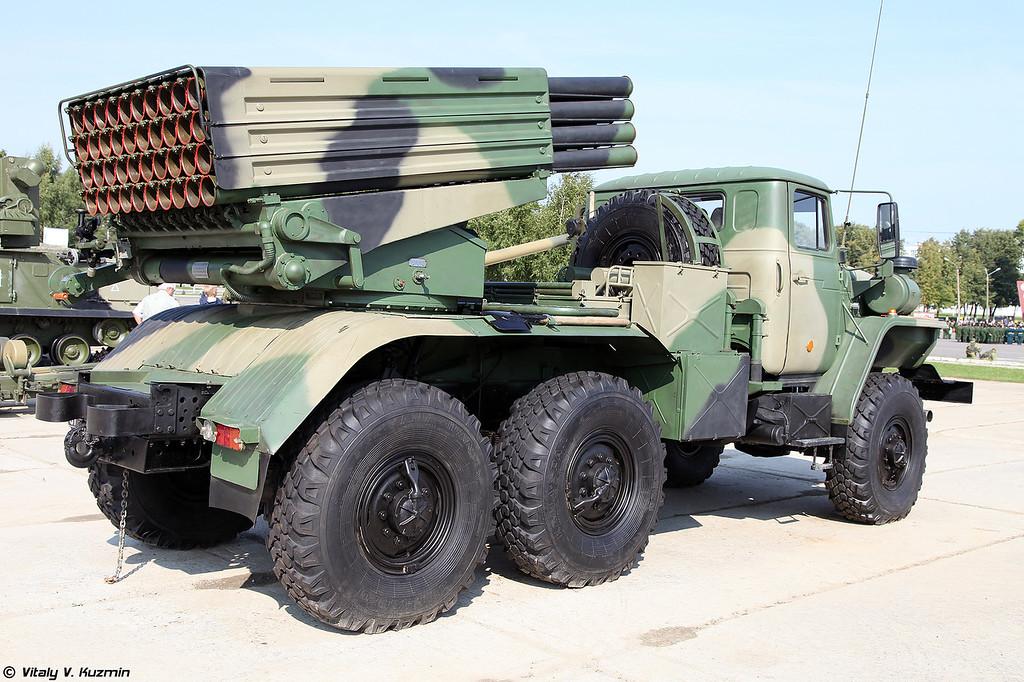 Боевая машина БМ-21-1 РСЗО 9К51 Град (BM-21-1 combat vehicle 9K51 Grad MLRS)
