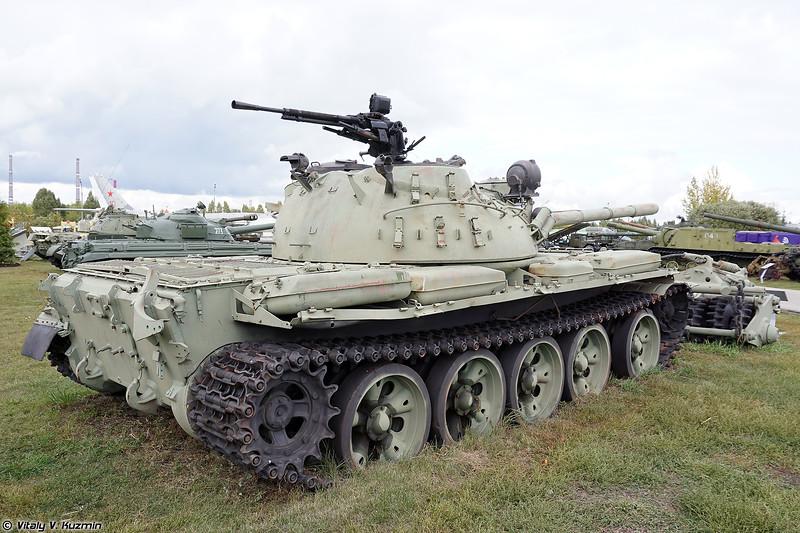 Т-55А с минным тралом КМТ-5М (T-55A with KMT-5M mine roller)