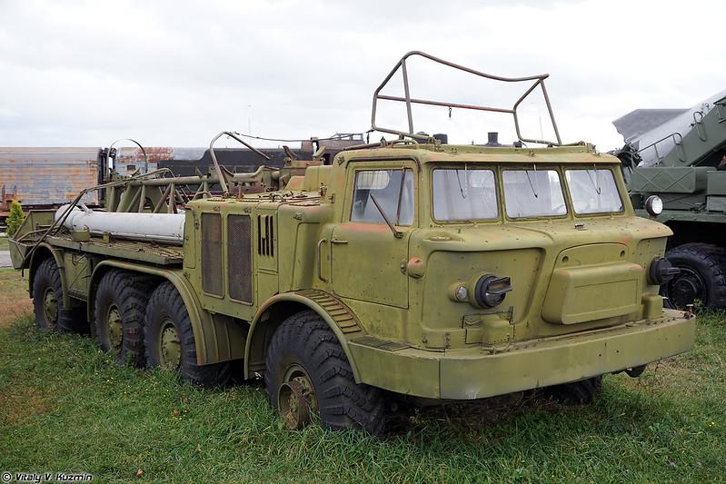 Второй экземпляр транспортной машины 9Т29 ракетного комплекса 9К52 Луна-М (9T29 transporter 9K52 Luna-M, second vehicle in the collection)