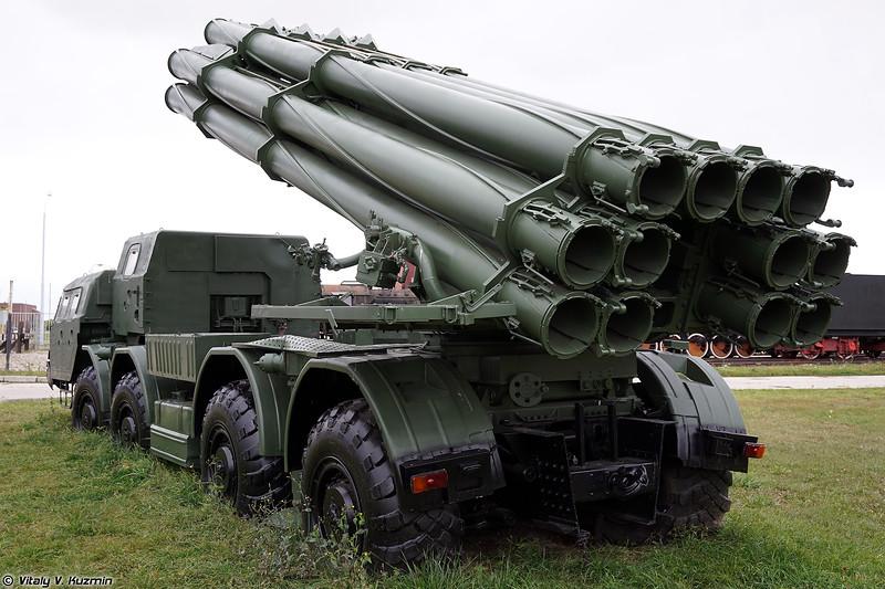 Боевая машина 9А52 РСЗО Смерч (9A52 Smerch MLRS)