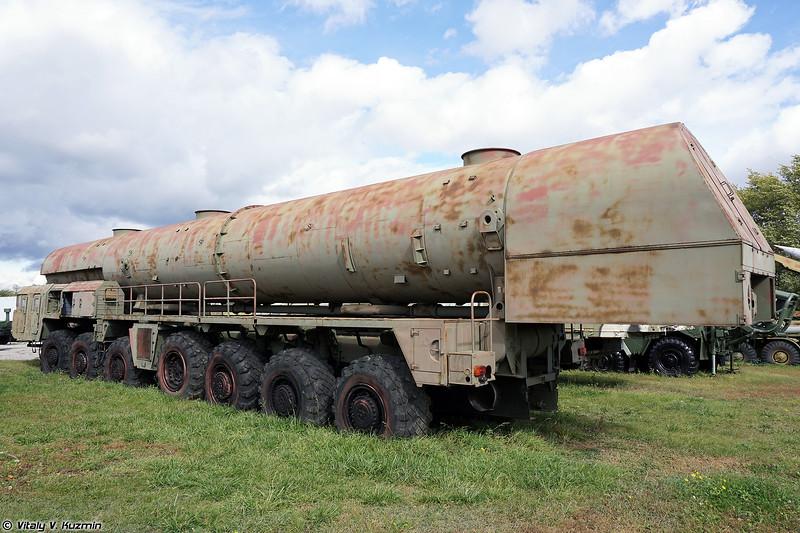 15Т382 агрегат сопровождения колонны технического замыкания ПГРК 15П158 Тополь (15T382 support vehicle for 15P158 Topol ICBM)