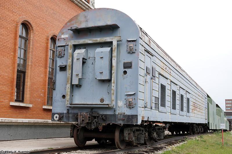 Вагон оборудования 15Т273А для обеспечения пусковой установки БЖРК 15П961 Молодец (15T273A Support carriage 15P961 Molodets)