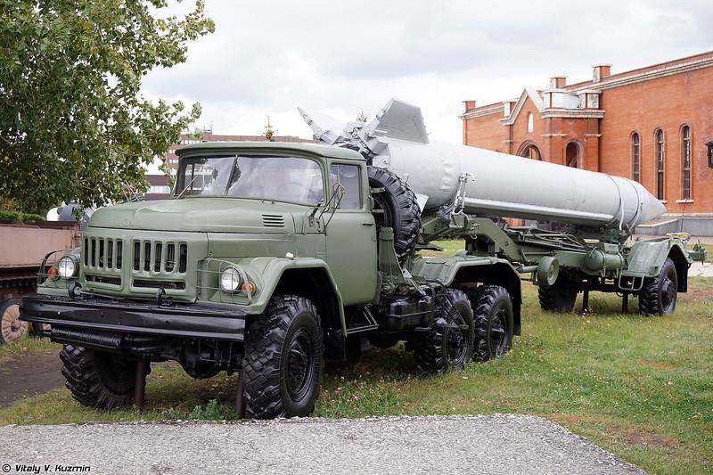 Грунтовая тележка 2Т3М1 ОТРК 9К72 Эльбрус (2T3M1 transport trailer 9K72 Elbrus)