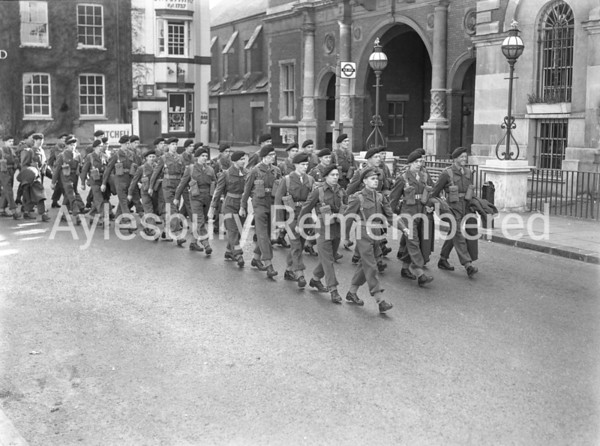 Territorials in Market Square, Aug 9 1954