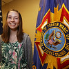 Trina Schell, 16, of Wilmington, a sophomore at Lexington Christian Academy, winner of statewide VFW Voice of Democracy scholarship program. (SUN/Julia Malakie)