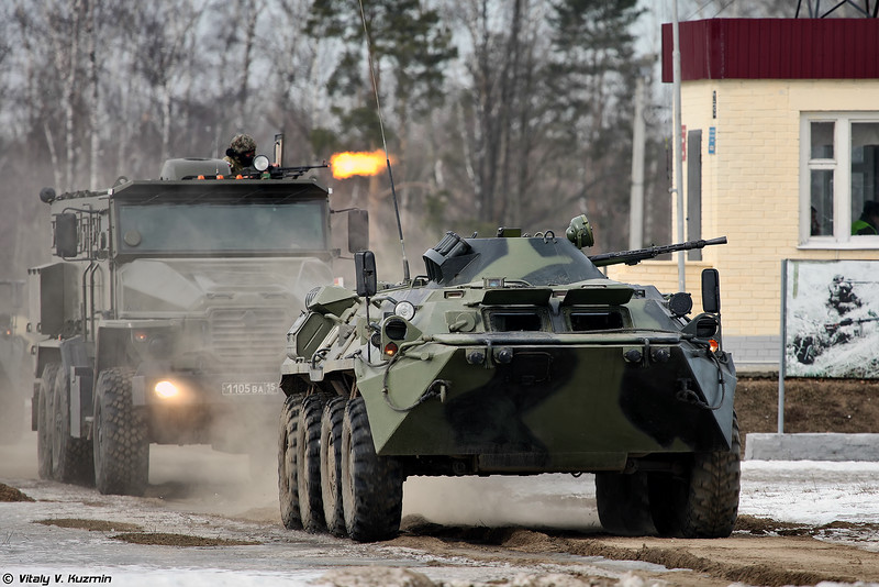БТР-80 и Урал-4320ВВ (BTR-80 and Ural-4320VV)
