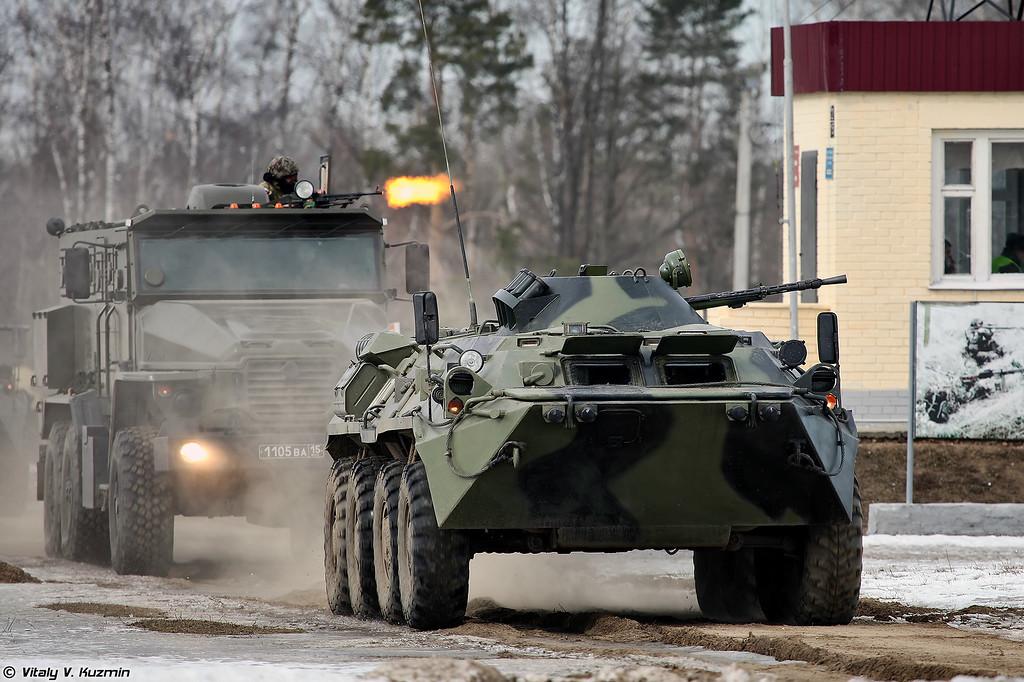 БТР-80 и Урал-4320ВВ (BTR-80 and Ural-4320VV)