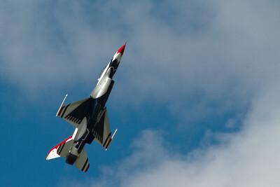 Thunderbirds opvisning pa Flyvestation Karup