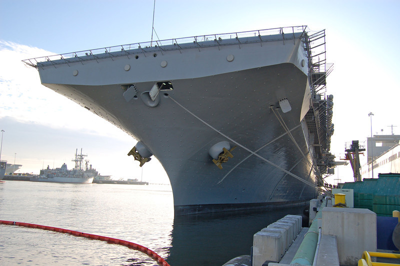 Bow of the USS Bonhomme Richard,  LHD 6