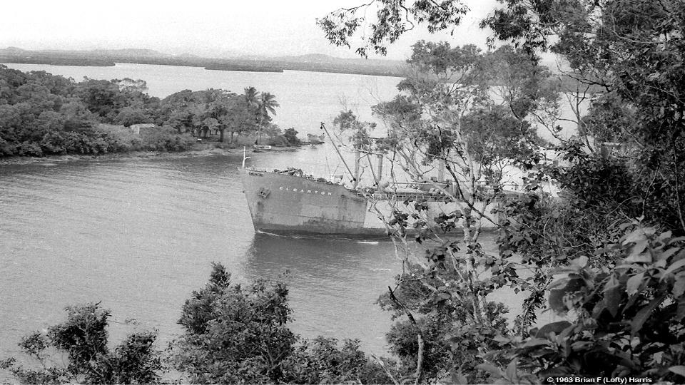 Sugar bulk carrier in Mourilyan Harbour where depth is 25ft ans ship draws 23ft loaded high tide.
