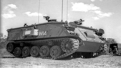UK Trojan  M-432 on Tropic Trials. Us Allison tranny & sealed Rolls Royce gasoline engine