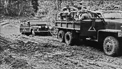 November 1962 in the junge around Innisfail on M 113 Tropic Trials testing. Three monthe hot, wet here. Three months hot, dry at Mt Isa.