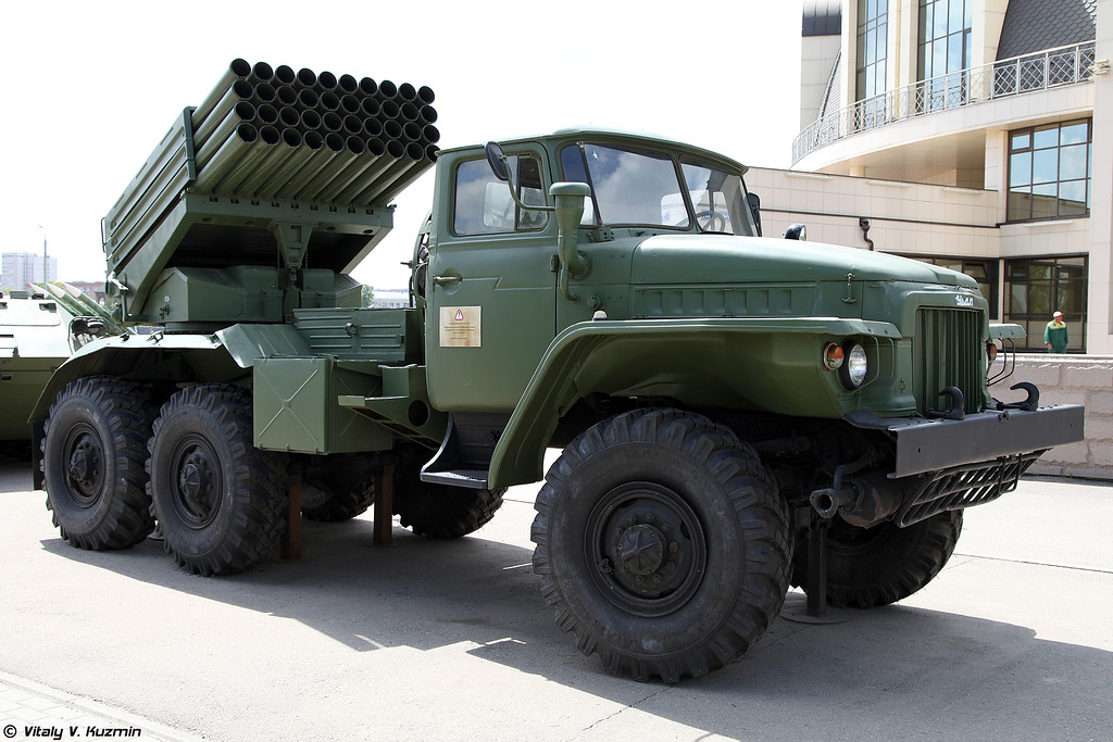 Боевая машина БM-21 РСЗО 9К51 Град (BM-21 9K51 Grad MLRS)