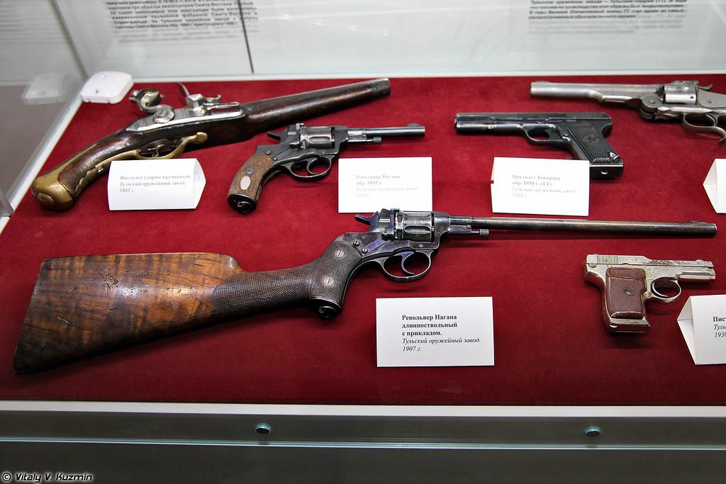 Револьвер системы Нагана длинноствольный с прикладом (Long barrel Nagan revolver with buttstock)