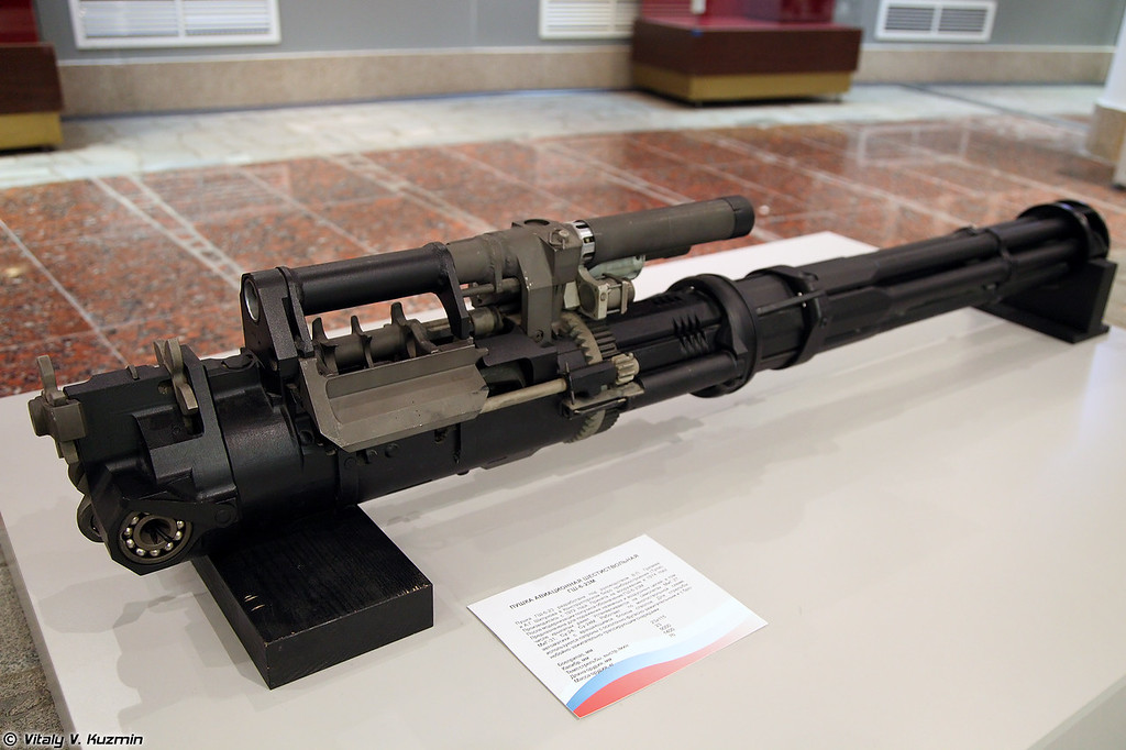 23-мм автоматическая пушка ГШ-6-23М (GSh-6-23M six-barreled 23mm rotary cannon)