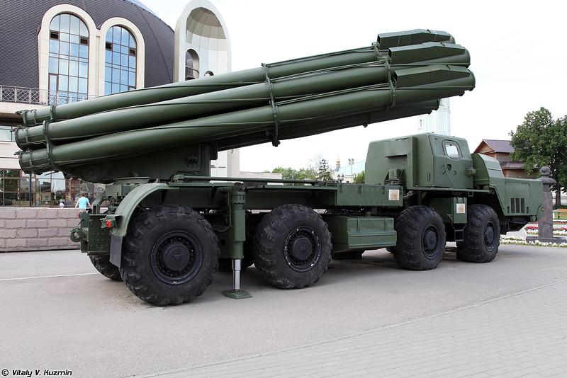 Боевая машина 9А52 РСЗО 9К58 / БМ-30 Смерч (9A52 launch vehicle of 9K58 / BM-30 Smerch MLRS)