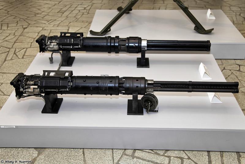 Пулеметы авиационные четырехствольные 9А-624К и 9А624 (9A-624K and 9A624 aviation machine guns)