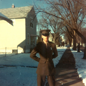 Home after Boot Camp 1965 PFC Fisher
