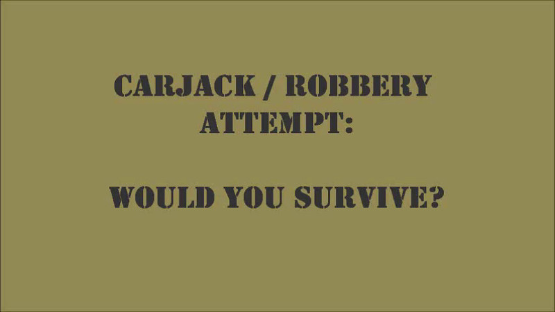 Carjack / Robbery attempt in real time.