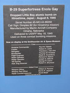 Little Boy Plaque
