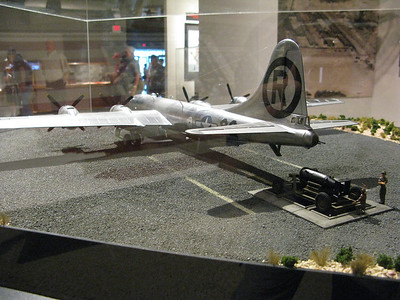 Replica of Enola Gay and Little Boy