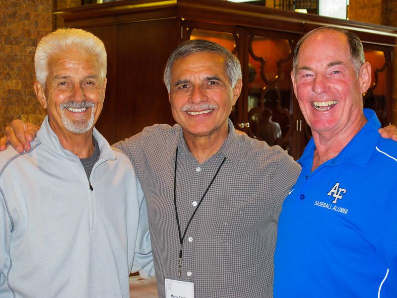 Wayne Warren, Marty Cavato and Dave Spencer.  Doolie roommates 17th Sqdn 1965-1966.