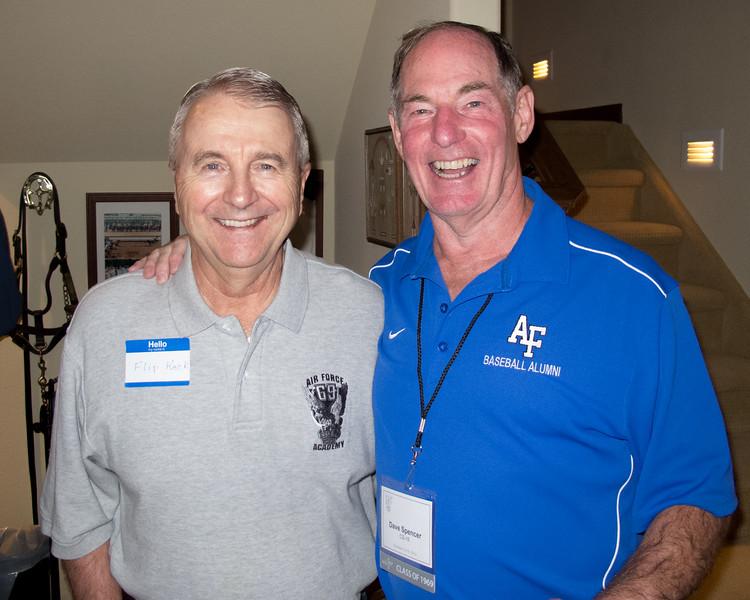 Baseball teammates Flip Keck and Dave Spencer