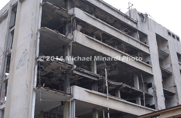 U S _bombed_Serbian_Police_barracks_in_Pristina_Kosovo_Copyright_Minardi_096