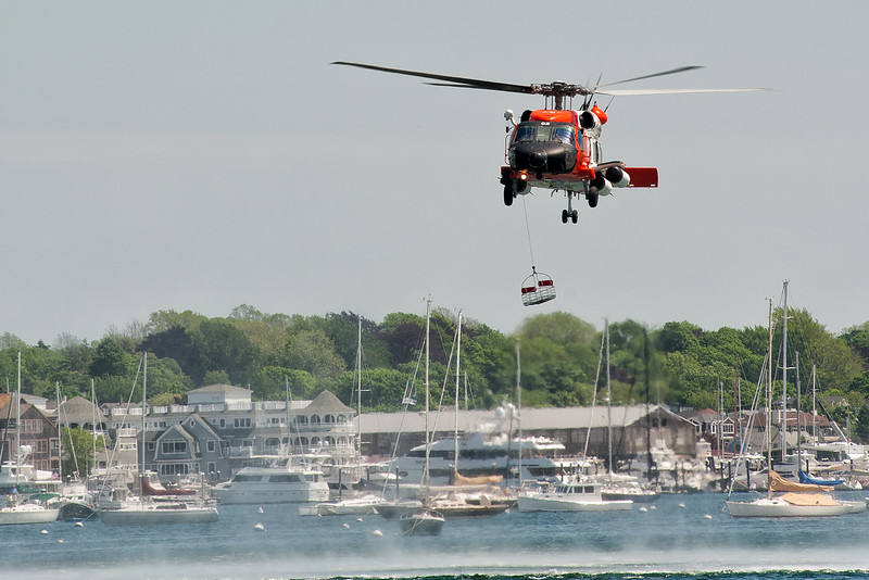 US Coast Guard Helicopter Operations, Newport Harbor