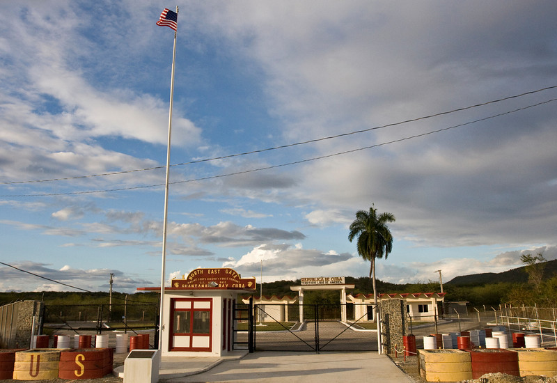 """Actors Brian McNamara, Sally Pressman and Terry Serpico of Lifetime's top-rated drama """"Army Wives"""" viewed the Northeast Gate of The U. S. Naval Station in Guantanamo Bay, Cuba as part of USO/Armed Forces Entertainment tour December 12-16."""