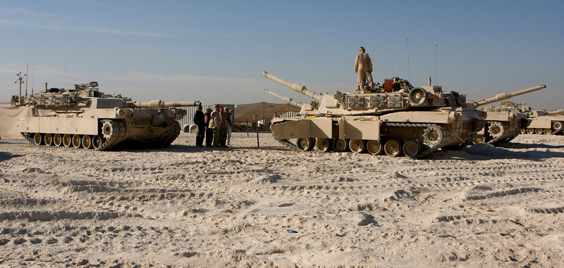 Camp Fallujah, Iraq 11-25-07. These are the same tanks that my son worked on and went on missions with.