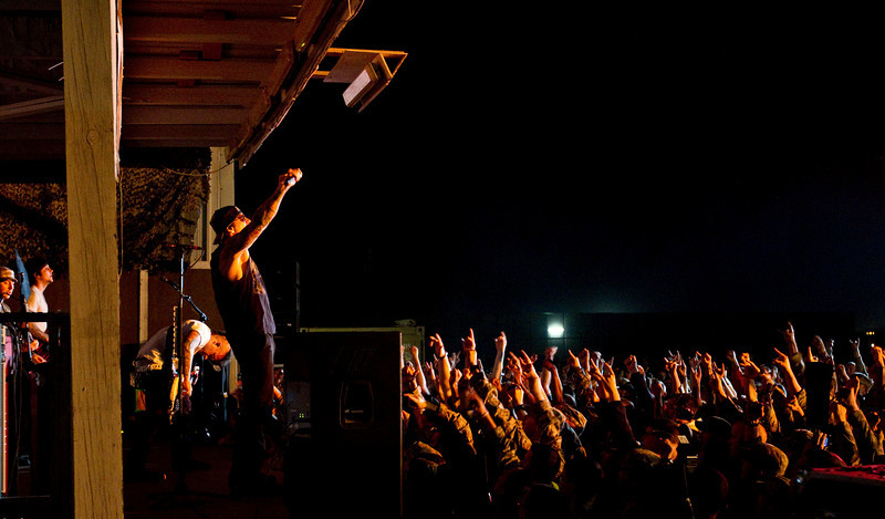 November 30, 2010. Camp Adder, Talil, Iraq. Hundreds of U. S. Military personnel showed up for the final show.