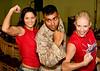 American Gladiators meet and greet servicemembers at Camp Lemoniere, Djibouti, Africa, November 11, 2008