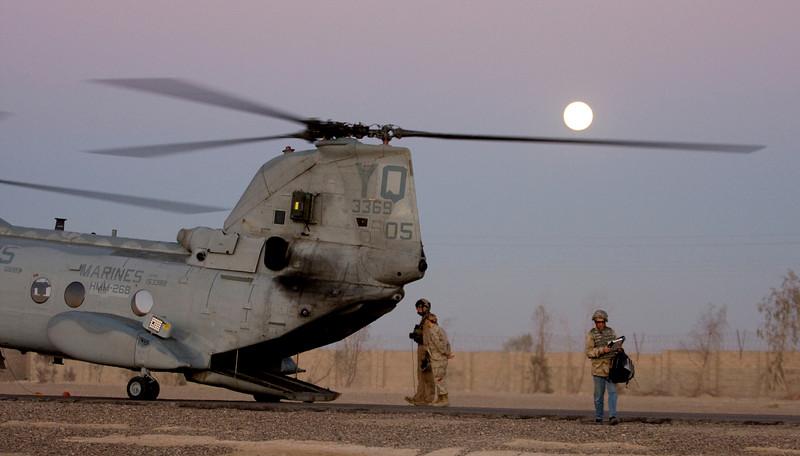 Tha landing strip at Camp Fallujah, Iraq.
