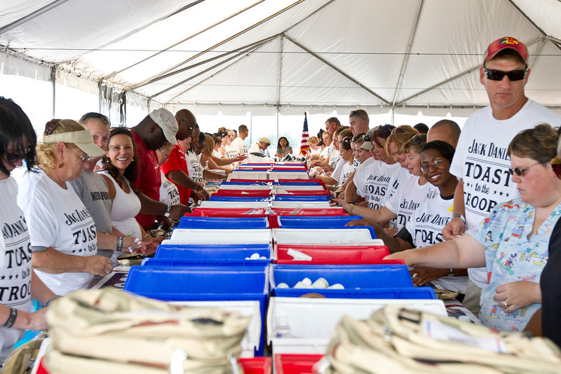 """USO/Jack Daniel's """"Toast to the Troops"""" Stuffing Party"""