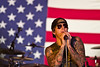 November 29, 2010. Balad Air Base, Iraq. Hundreds of U. S. Military personnel showed up for Avenged Sevenfold. M. Shadows (Mathew Sanders) performs.