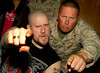 Saving Abel-Scott Bartlett getting crazy with a Marine at Camp Arifjan, Kuwait.