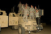 November 29, 2010. Balad Air Base, Iraq. Hundreds of U. S. Military personnel showed up for the show. Soldiers on their MRAP vehicles cheer for the band!