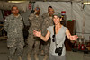 June 10, 2011. At an undisclosed military base in the Middle East. Health and Wellness expert Jillian Michaels and Fitness Guru Marco Borges lead boot camp style work out sessions while actress/media personality Celines Toribio adds excitement. Michaels visits a U. S. Army Patriot Missile Battery. USO photo by Mike Clifton.